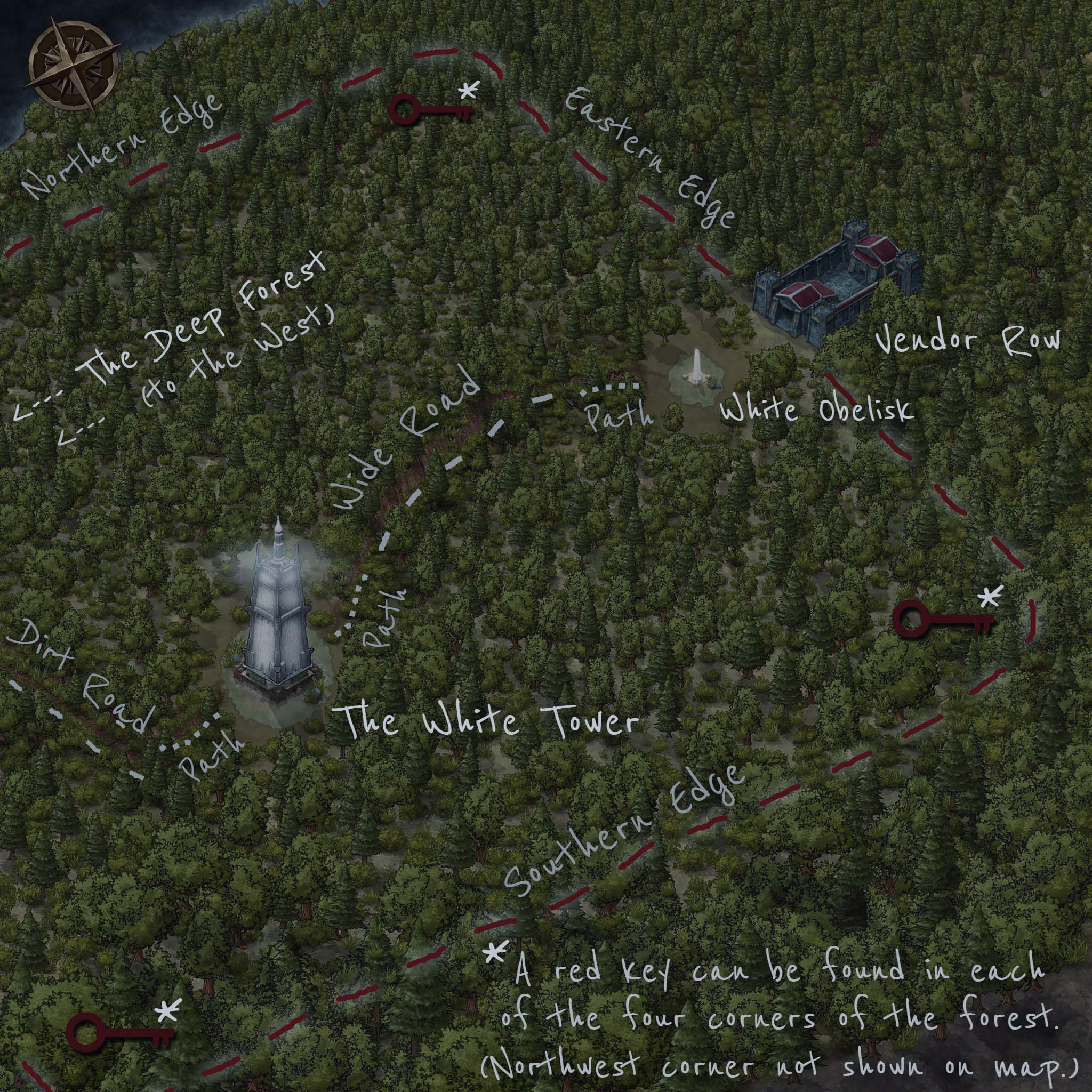 The Forest, An Annotated Map (SPOILERS!) - Enter Dark